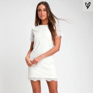 White lulus dress size M